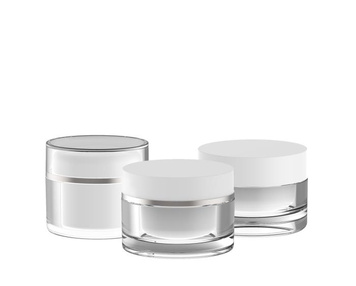 Thick walled cream jars