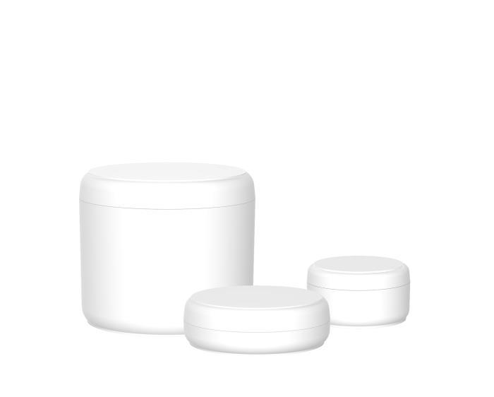 Single walled cream jars